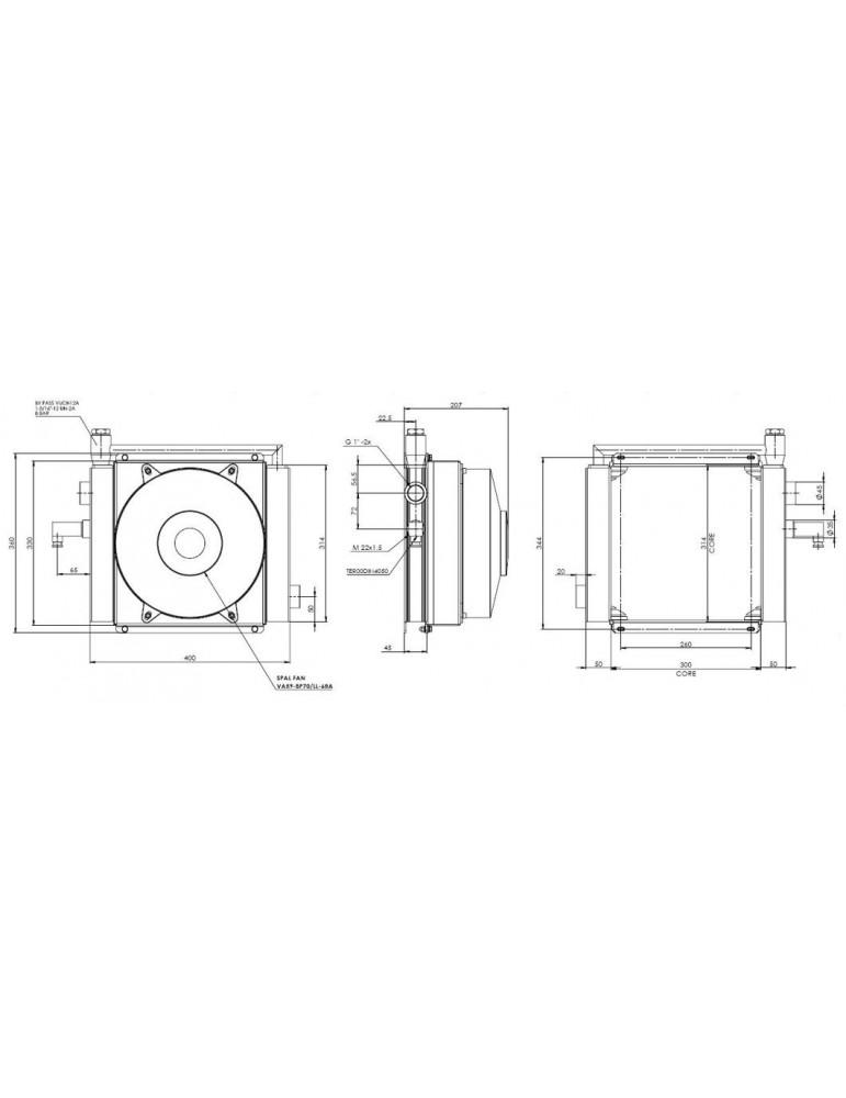 Маслоохладители - теплообменники для охлаждения гидросистемы RUV- 43842