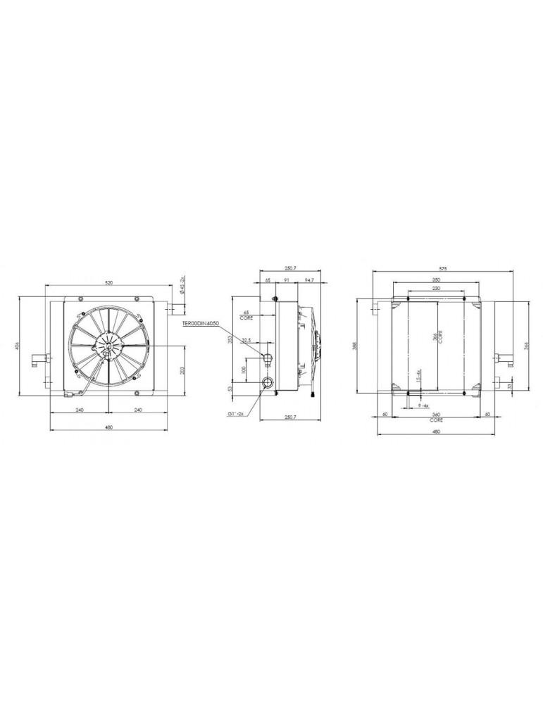 Маслоохладители - теплообменники для охлаждения гидросистемы RUV 43774-0 (8 BAR By-pass)